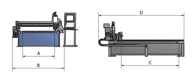 Afmetingen START serie Astratec - Plasmasnijmachines en Lasautomatisatie
